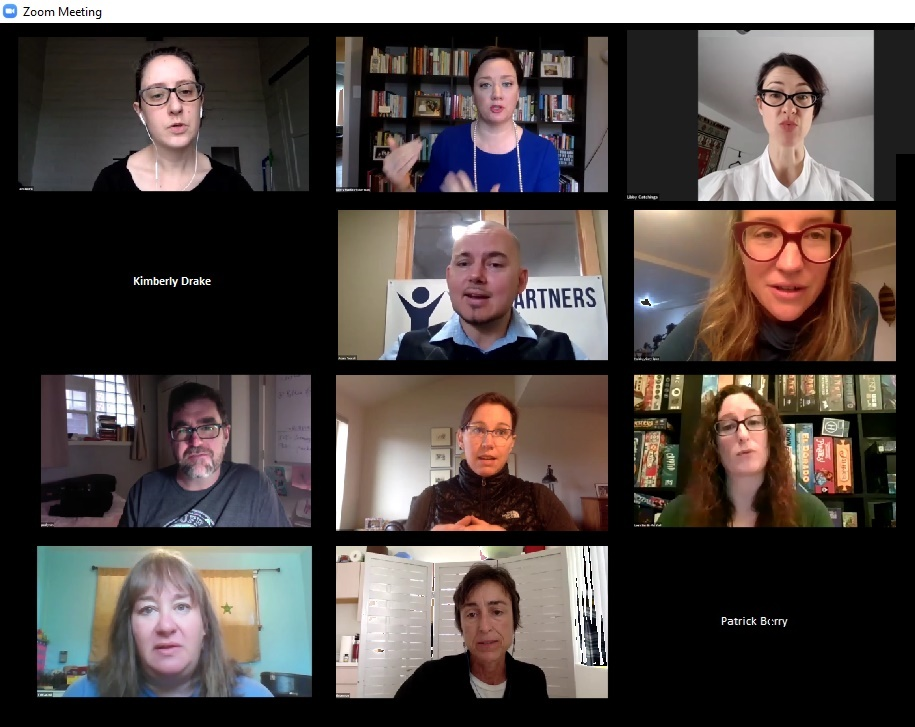 Screenshot of virtual workshop discussion, March 25, 2020